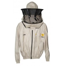 Блуза с пчеларска шапка, разкопчаваща се