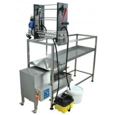 Маса за разпечатване с машина за разпечатване с ръчно подаване и с преса за отпечатки 100 кг/ч