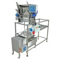 Разпечатваща машина с автоматично подаване на рамките , 230 V и с преса за восък 100 кг/ч
