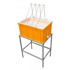 Маса за разпечатване с пластмасова ваничка (вис. 300мм, пластмасово сито)